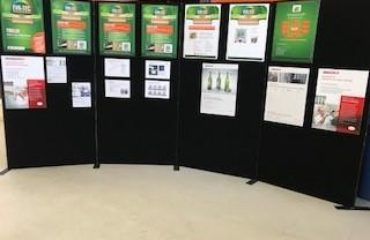 Display boards in place for the visit of Loughry College. Lets get learning!